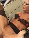 Milf secretary Chelsea gets nasty hot facial